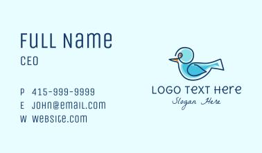 Monoline Blue Bird Business Card