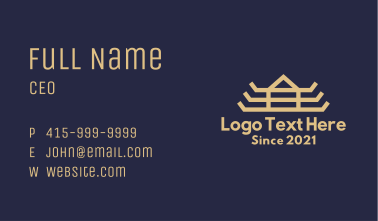 Asian Temple Wings Business Card