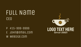 Coffee Cup Pixel  Business Card