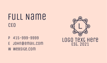 Creative Agency Letter Business Card