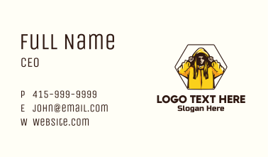 Woman Jacket Character Business Card