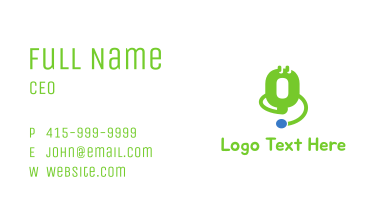 Green Medical Device Stethoscope Business Card