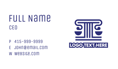 Blue Scale Letter T Business Card