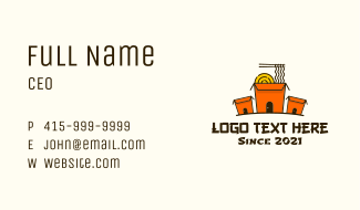 Noodle House Takeout Business Card