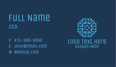 Ice Frost Snowflake Business Card