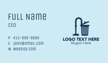 Hoover Trash Can  Business Card