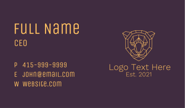 Geometric Tiger Face  Business Card