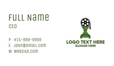 Film Reel Tank Business Card