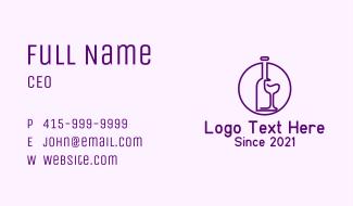 Bottle & Glass Line Art  Business Card