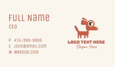 Red Chihuahua Dog Business Card