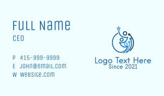 Family Line Art Business Card