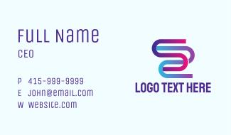 Letter S Flow Business Card