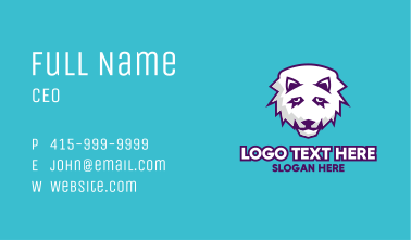 White Wolf Mascot  Business Card