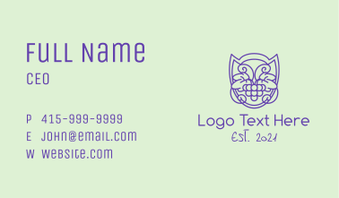 Grape Orchard Badge Business Card