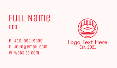 Red Lipstick Cosmetics Business Card