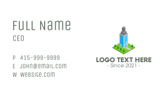 Modern Office Building Business Card