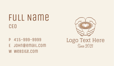 Heart Cappuccino Drink Business Card