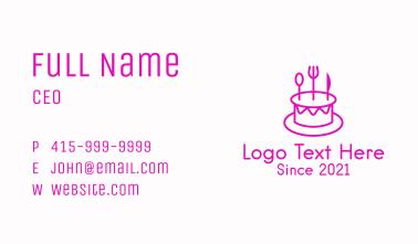 Pastry Cake Utensils Business Card