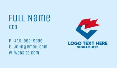 Geometric Flag Letter C  Business Card
