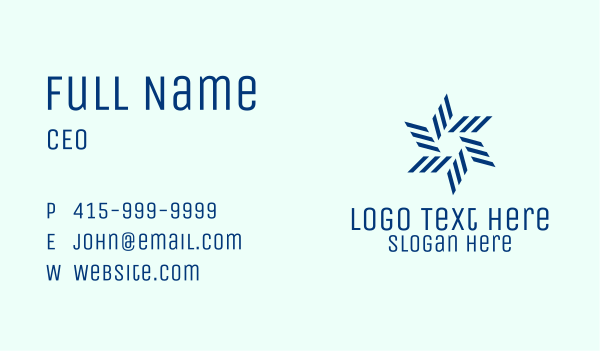 cruise ship - Geometric Blue Propeller  Business card horizontal design