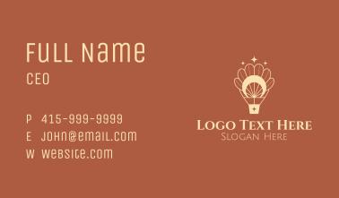 Mystic Petal Air Balloon Business Card