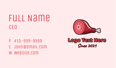 Thigh Meat Cut Business Card