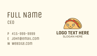 Happy Mexican Taco Business Card