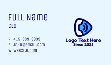 Telephone Call Business Card