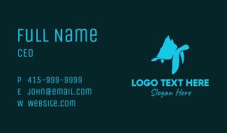Blue Turtle Iceberg Business Card