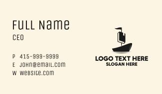 Black Boat Book Business Card