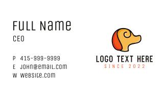 Minimalist Yellow Dog Business Card