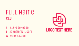 Red Medical Cross Business Card