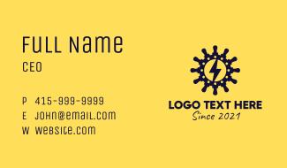 Lightning Bolt Helm Business Card