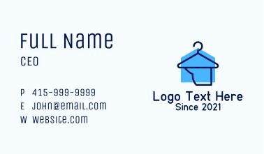 Laundry Hanger Shop Business Card