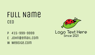 Ladybug Leaf Insect  Business Card