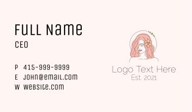 Feminine Beauty Salon Business Card
