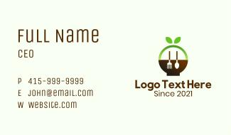 Organic Natural Restaurant Business Card