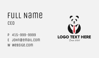 Panda Tuxedo Attire Business Card