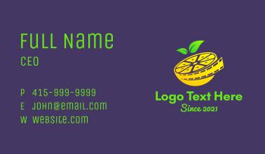 Lemon Film Reel  Business Card