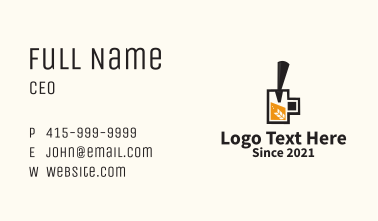 Craft Beer Tap Business Card