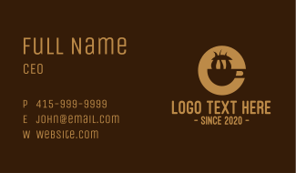 Brown Coffee Mug Business Card