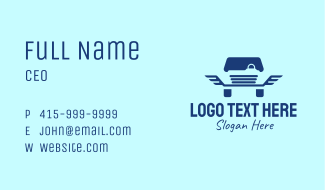 Blue Wings Car  Business Card