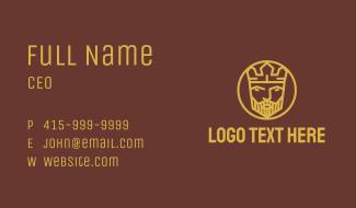 Geometric King Badge Business Card