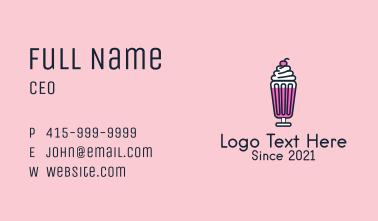 Sundae Dessert Bar Business Card