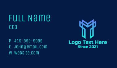Abstract Geometric Helmet Business Card