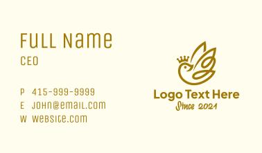 Crown Dove Bird Business Card