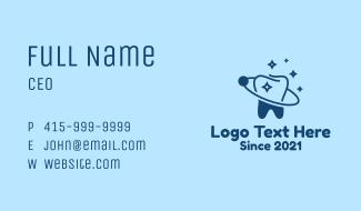 Blue Dental Planet  Business Card