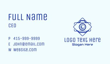 Camera Outline Badge Business Card