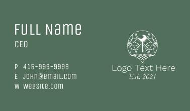 Eco Friendly Hourglass Business Card
