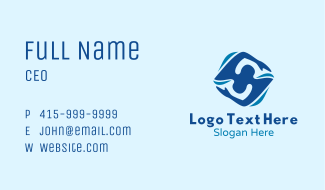 Blue Swimmer Athlete  Business Card